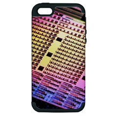 Optics Electronics Machine Technology Circuit Electronic Computer Technics Detail Psychedelic Abstract Apple iPhone 5 Hardshell Case (PC+Silicone)