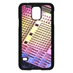 Optics Electronics Machine Technology Circuit Electronic Computer Technics Detail Psychedelic Abstract Samsung Galaxy S5 Case (Black)