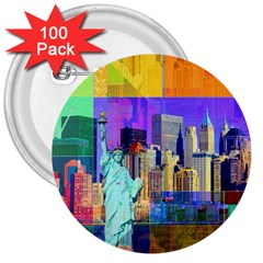 New York City The Statue Of Liberty 3  Buttons (100 pack)