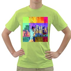 New York City The Statue Of Liberty Green T-Shirt