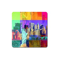 New York City The Statue Of Liberty Square Magnet