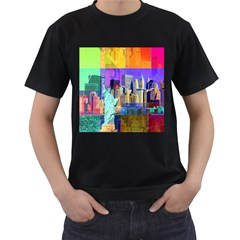 New York City The Statue Of Liberty Men s T-Shirt (Black)