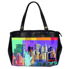 New York City The Statue Of Liberty Office Handbags (2 Sides)