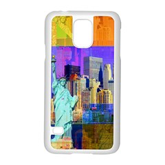 New York City The Statue Of Liberty Samsung Galaxy S5 Case (White)