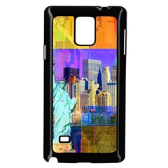 New York City The Statue Of Liberty Samsung Galaxy Note 4 Case (Black)