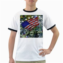 Usa United States Of America Images Independence Day Ringer T-Shirts