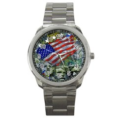 Usa United States Of America Images Independence Day Sport Metal Watch