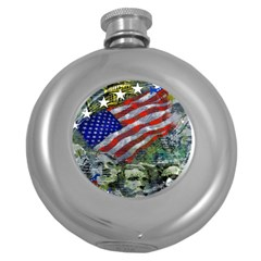 Usa United States Of America Images Independence Day Round Hip Flask (5 oz)