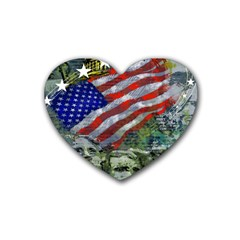 Usa United States Of America Images Independence Day Rubber Coaster (Heart)