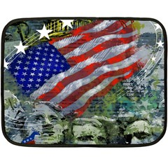 Usa United States Of America Images Independence Day Fleece Blanket (Mini)