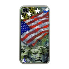 Usa United States Of America Images Independence Day Apple iPhone 4 Case (Clear)