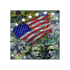 Usa United States Of America Images Independence Day Acrylic Tangram Puzzle (4  x 4 )