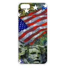 Usa United States Of America Images Independence Day Apple iPhone 5 Seamless Case (White)