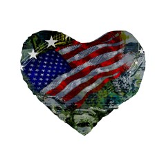 Usa United States Of America Images Independence Day Standard 16  Premium Heart Shape Cushions