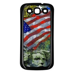 Usa United States Of America Images Independence Day Samsung Galaxy S3 Back Case (Black)