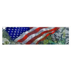 Usa United States Of America Images Independence Day Satin Scarf (Oblong)