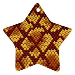 Snake Skin Pattern Vector Ornament (Star)