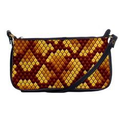 Snake Skin Pattern Vector Shoulder Clutch Bags