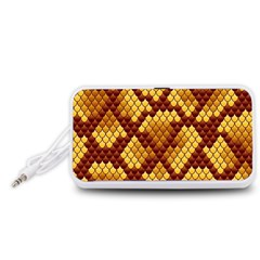 Snake Skin Pattern Vector Portable Speaker (White)
