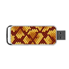 Snake Skin Pattern Vector Portable USB Flash (Two Sides)