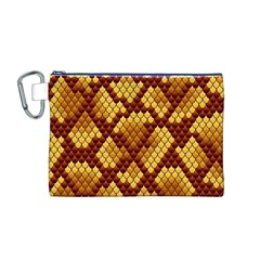 Snake Skin Pattern Vector Canvas Cosmetic Bag (M)