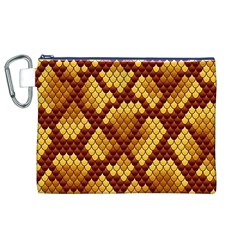 Snake Skin Pattern Vector Canvas Cosmetic Bag (XL)