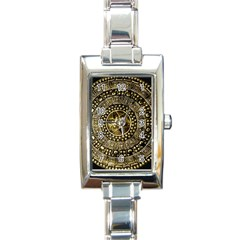 Gold Roman Shield Costume Rectangle Italian Charm Watch