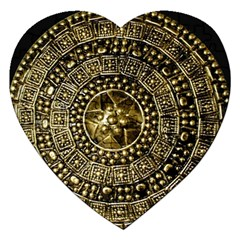 Gold Roman Shield Costume Jigsaw Puzzle (Heart)