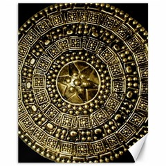Gold Roman Shield Costume Canvas 11  x 14
