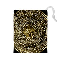 Gold Roman Shield Costume Drawstring Pouches (Large)