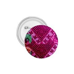 Pink Batik Cloth Fabric 1.75  Buttons