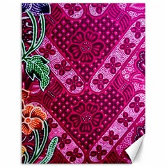 Pink Batik Cloth Fabric Canvas 12  x 16