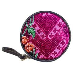 Pink Batik Cloth Fabric Classic 20-CD Wallets