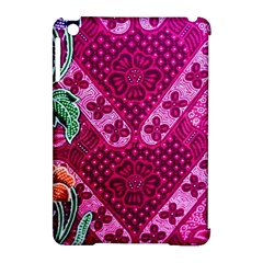 Pink Batik Cloth Fabric Apple iPad Mini Hardshell Case (Compatible with Smart Cover)