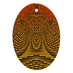 Fractal Pattern Oval Ornament (Two Sides)