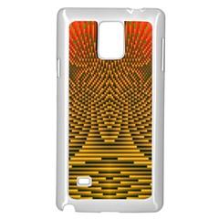 Fractal Pattern Samsung Galaxy Note 4 Case (White)