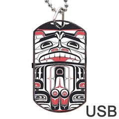 Ethnic Traditional Art Dog Tag USB Flash (Two Sides)