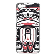 Ethnic Traditional Art Apple iPhone 5 Case (Silver)