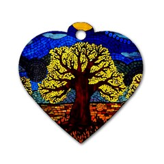 Tree Of Life Dog Tag Heart (One Side)