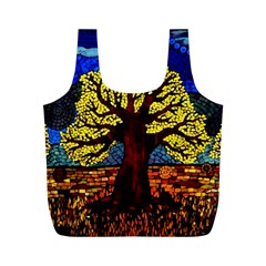 Tree Of Life Full Print Recycle Bags (M)