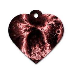 Space Dog Tag Heart (One Side)