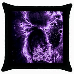 Space Throw Pillow Case (Black)