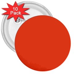 Trendy Basics   Trend Color Flame 3  Buttons (10 Pack)