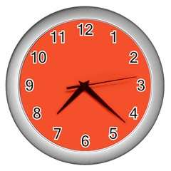 Trendy Basics   Trend Color Flame Wall Clocks (silver)
