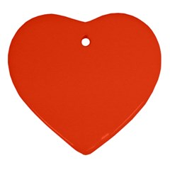 Trendy Basics   Trend Color Flame Heart Ornament (two Sides)