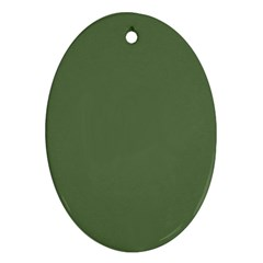 Trendy Basics   Trend Color Kale Ornament (oval)
