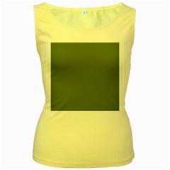 Trendy Basics   Trend Color Kale Women s Yellow Tank Top