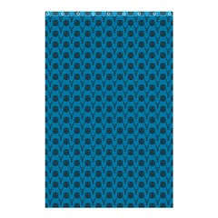Lion Vs Gazelle Damask In Teal Shower Curtain 48  X 72  (small)