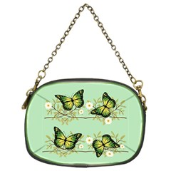 Four Green Butterflies Chain Purses (two Sides)