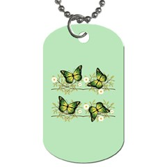 Four Green Butterflies Dog Tag (two Sides)